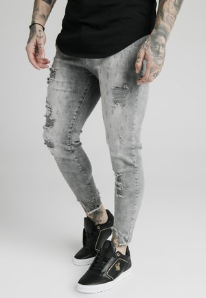 RAW CUFF CROPPED SKINNY JEANS - Vaqueros pitillo - washed grey