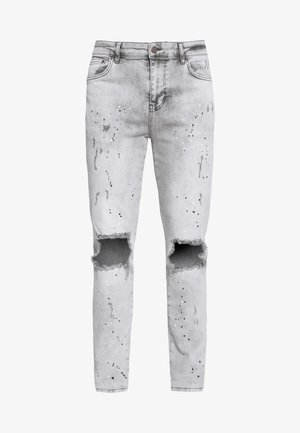 BUST KNEE RIOT - Jeans Skinny Fit - washed grey