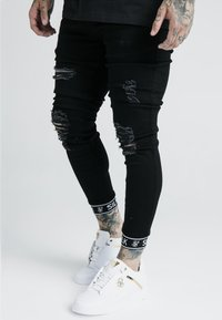 SIKSILK - X DANI ALVES TECH CUFF  - Jeans Skinny Fit - black - 0
