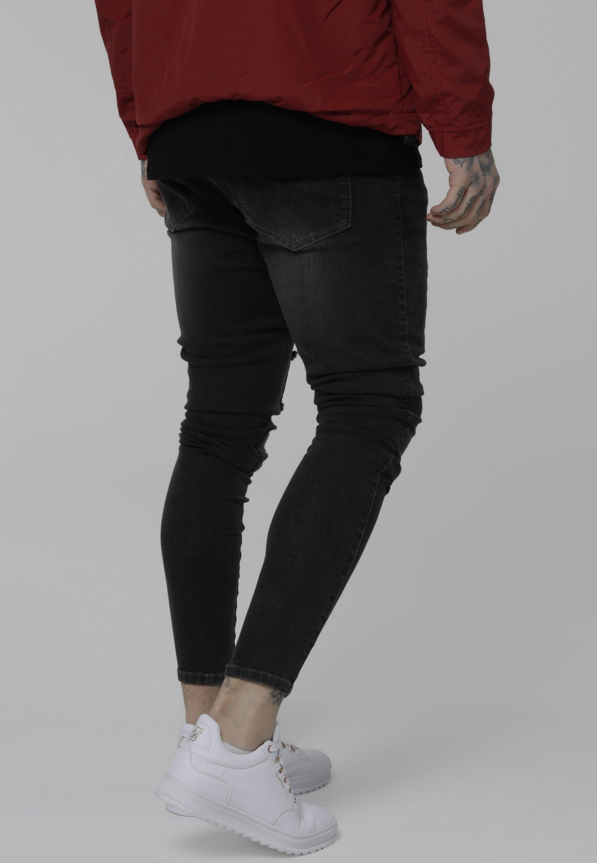 Siksilk Skinny-farkut - Black