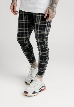 PLAID CHECK SKINNY  - Pantalon classique - navy/yellow/white