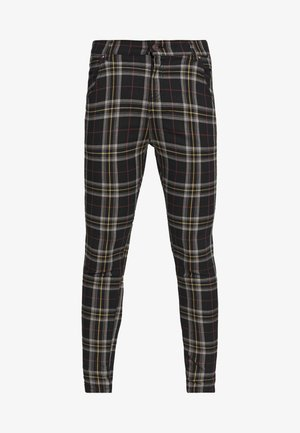 PLAID CHECK SKINNY  - Trousers - navy/yellow/white