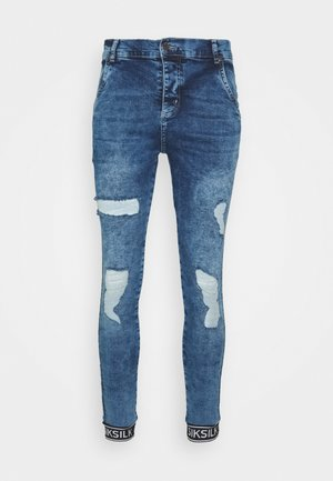 SKINNY CUFFED JEANS - Jeans Skinny Fit - blue