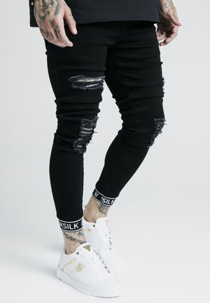 SKINNY CUFFED JEANS - Jeans Skinny - black