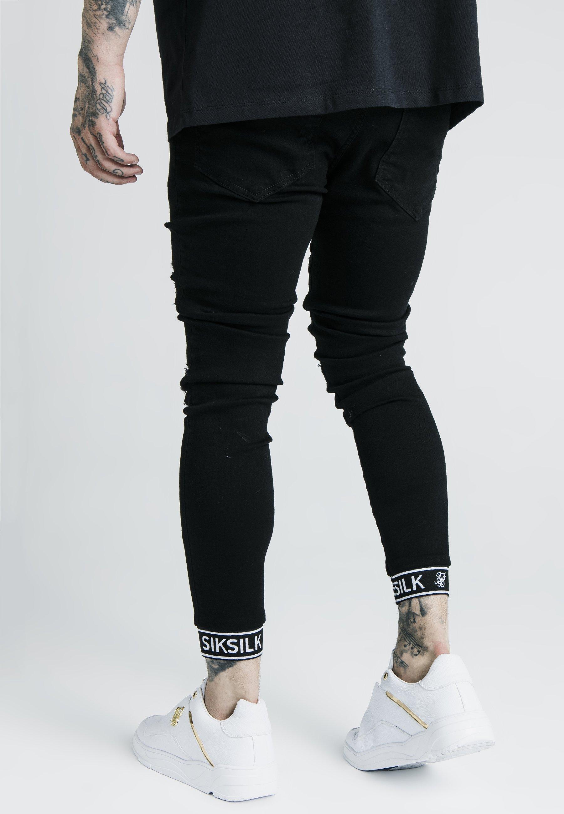 Siksilk Skinny Cuffed Jeans - Skinny-farkut Black