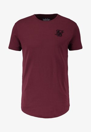 SHORT SLEEVE TEE - T-shirt - bas - burgundy