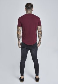 SIKSILK - SHORT SLEEVE TEE - T-shirt - bas - burgundy - 2