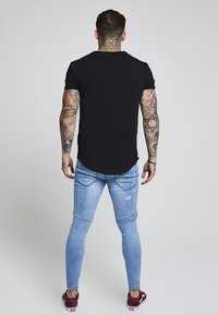 SIKSILK - SHORT SLEEVE GYM TEE - T-shirt - bas - black - 2