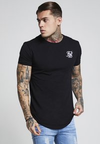 SIKSILK - SHORT SLEEVE GYM TEE - T-shirt - bas - black - 0
