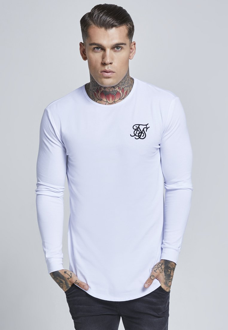 SIKSILK - GYM TEE - Long sleeved top - white