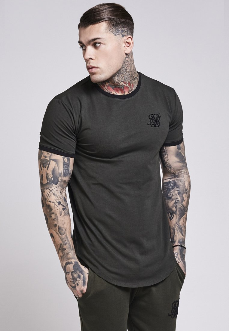 SHORT SLEEVE GYM TEE T shirt print khaki