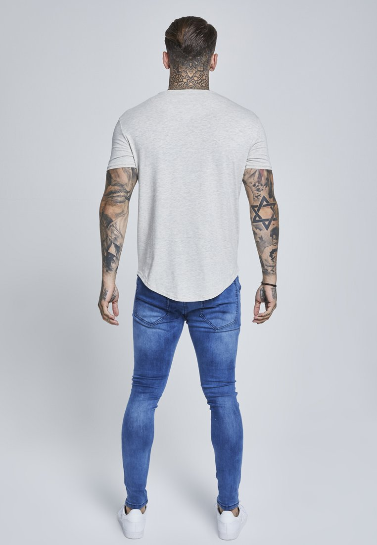 GYM TEE T shirt basic snow marl