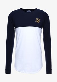 SIKSILK - RAGLAN BLOCK - Camiseta de manga larga - navy/white/gold - 3