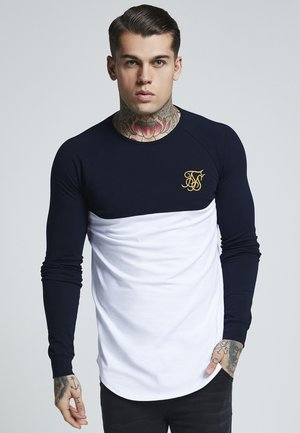 RAGLAN BLOCK - Longsleeve - navy/white/gold