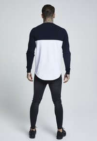 SIKSILK - RAGLAN BLOCK - Camiseta de manga larga - navy/white/gold - 2
