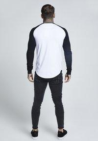 SIKSILK - RAGLAN LONG SLEEVE - T-shirt à manches longues - black/white - 2