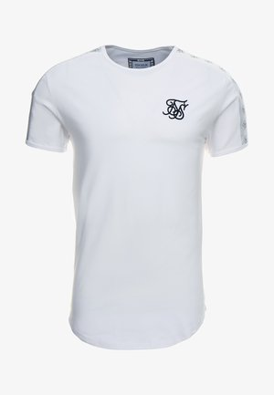 TAPE SHOULDER GYM TEE - Printtipaita - white