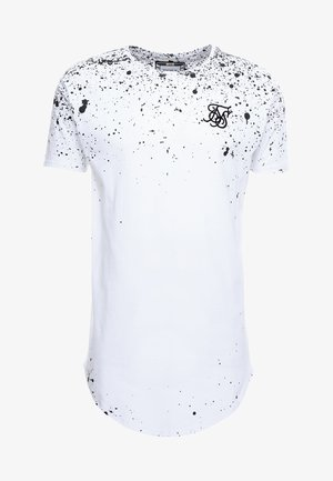 FADE CURVED HEM TEE - T-shirt con stampa - white