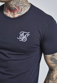 SIKSILK - SHORT SLEEVE GYM TEE - Camiseta básica - navy - 4