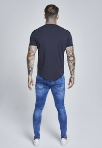 SIKSILK - SHORT SLEEVE GYM TEE - T-shirt basic - navy - 2