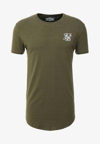 SIKSILK - SHORT SLEEVE GYM TEE - T-shirt basic - khaki - 3