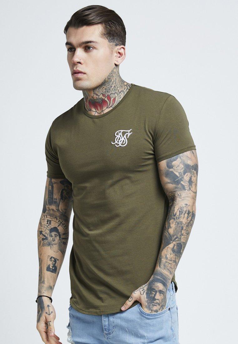 SIKSILK - SHORT SLEEVE GYM TEE - T-shirt basic - khaki