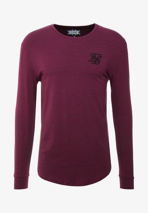LONG SLEEVE GYM TEE - Bluzka z długim rękawem - burgundy