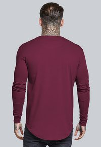 SIKSILK - LONG SLEEVE GYM TEE - T-shirt à manches longues - burgundy - 2