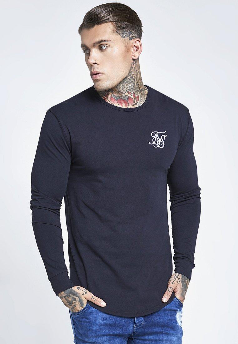 SIKSILK - LONG SLEEVE GYM TEE - Camiseta de manga larga - navy