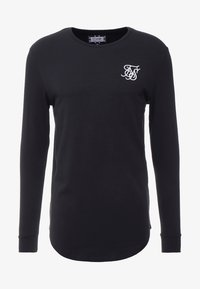 SIKSILK - LONG SLEEVE GYM TEE - Camiseta de manga larga - black - 3