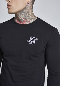 SIKSILK - LONG SLEEVE GYM TEE - Camiseta de manga larga - black - 4