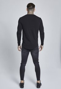 SIKSILK - LONG SLEEVE GYM TEE - Camiseta de manga larga - black - 2