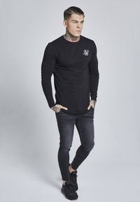 SIKSILK - LONG SLEEVE GYM TEE - Camiseta de manga larga - black - 1