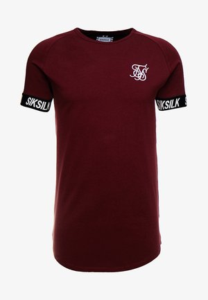 RAGLAN TECH TAPE TEE - T-shirt z nadrukiem - burgundy