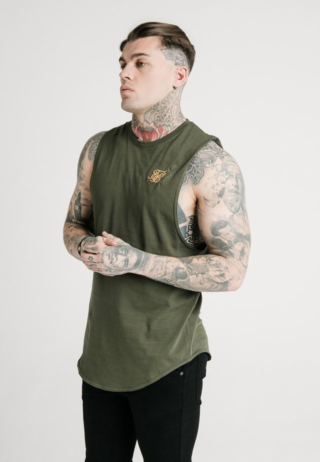 STANDARD DROP DOWN VEST - Top - khaki/gold