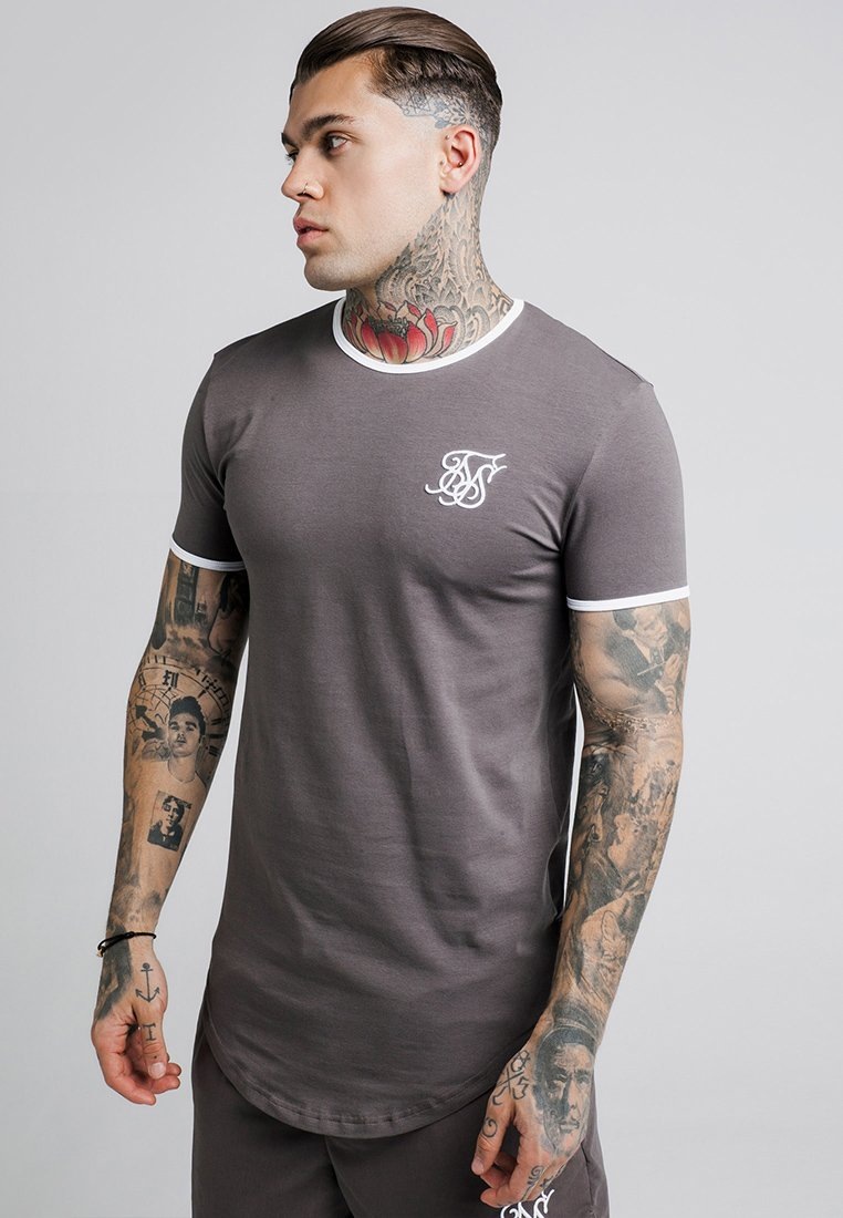 SIKSILK - RINGER GYM TEE - T-shirt basique - grey