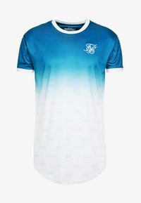 SIKSILK - RINGER FADE GYM TEE - T-Shirt basic - teal - 3