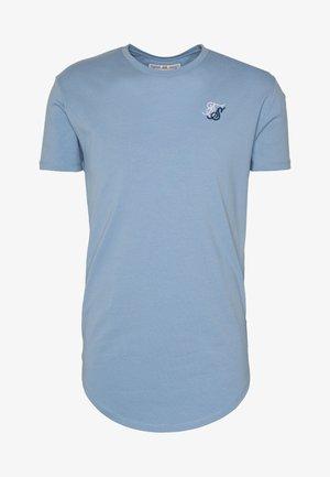 CONTRAST LOGO GYM TEE - T-shirt basique - faded denim