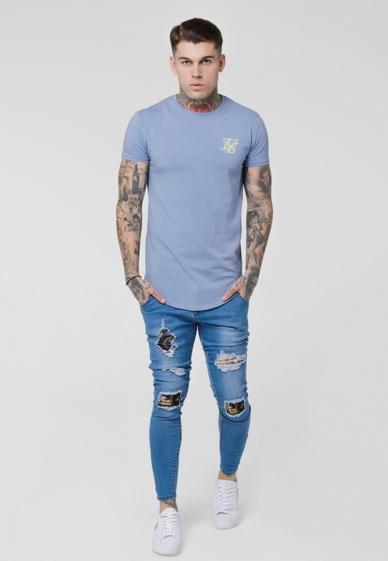 SIKSILK - GYM TEE - T-shirt basic - blue denim