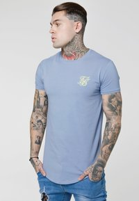 SIKSILK - GYM TEE - T-shirt - bas - blue denim - 4