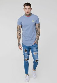 SIKSILK - GYM TEE - T-shirt - bas - blue denim - 1