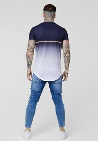 SIKSILK - CURVED HEM TEE - T-shirts med print - navy - 2
