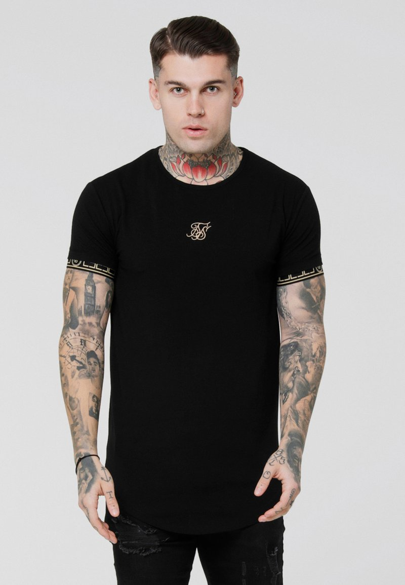 SIKSILK - SCOPE CARTEL GYM TEE - T-Shirt print - black/gold