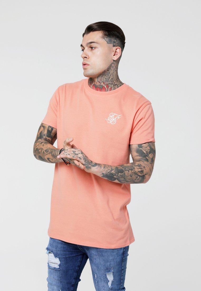 SIKSILK - PEACHED BOX TEE - Basic T-shirt - peach