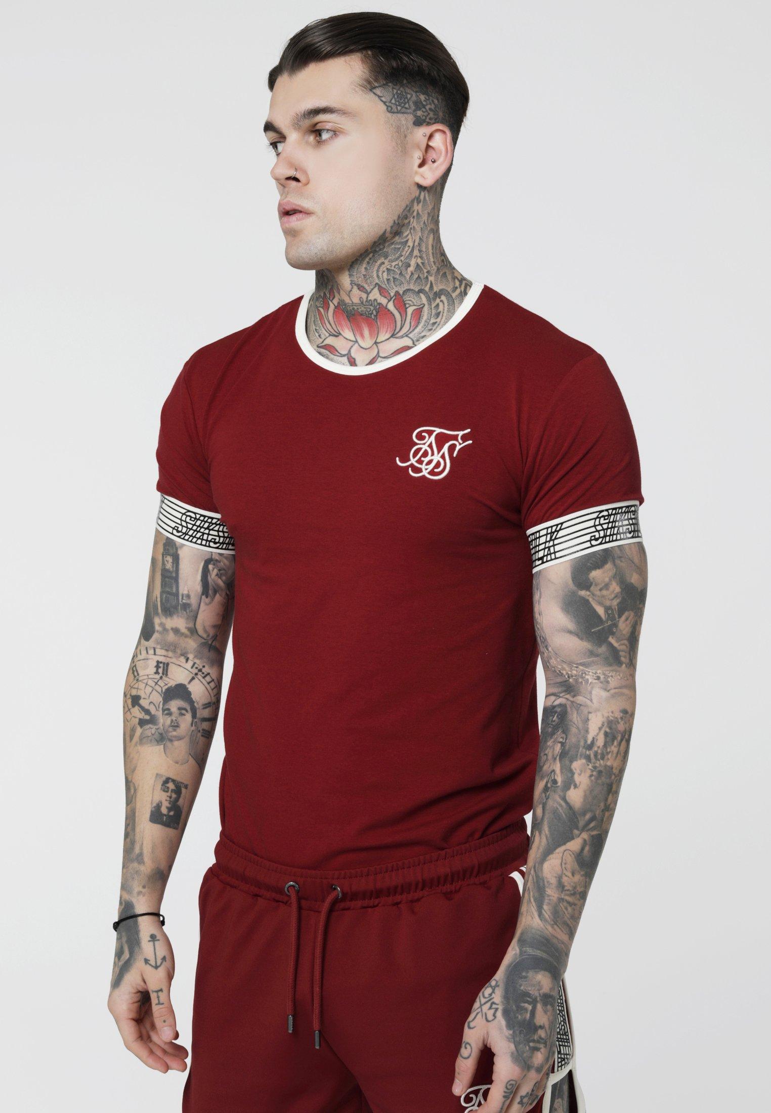 Red Cuff Gym shirt Runner TeeT Siksilk Imprimé tdQCrxsh