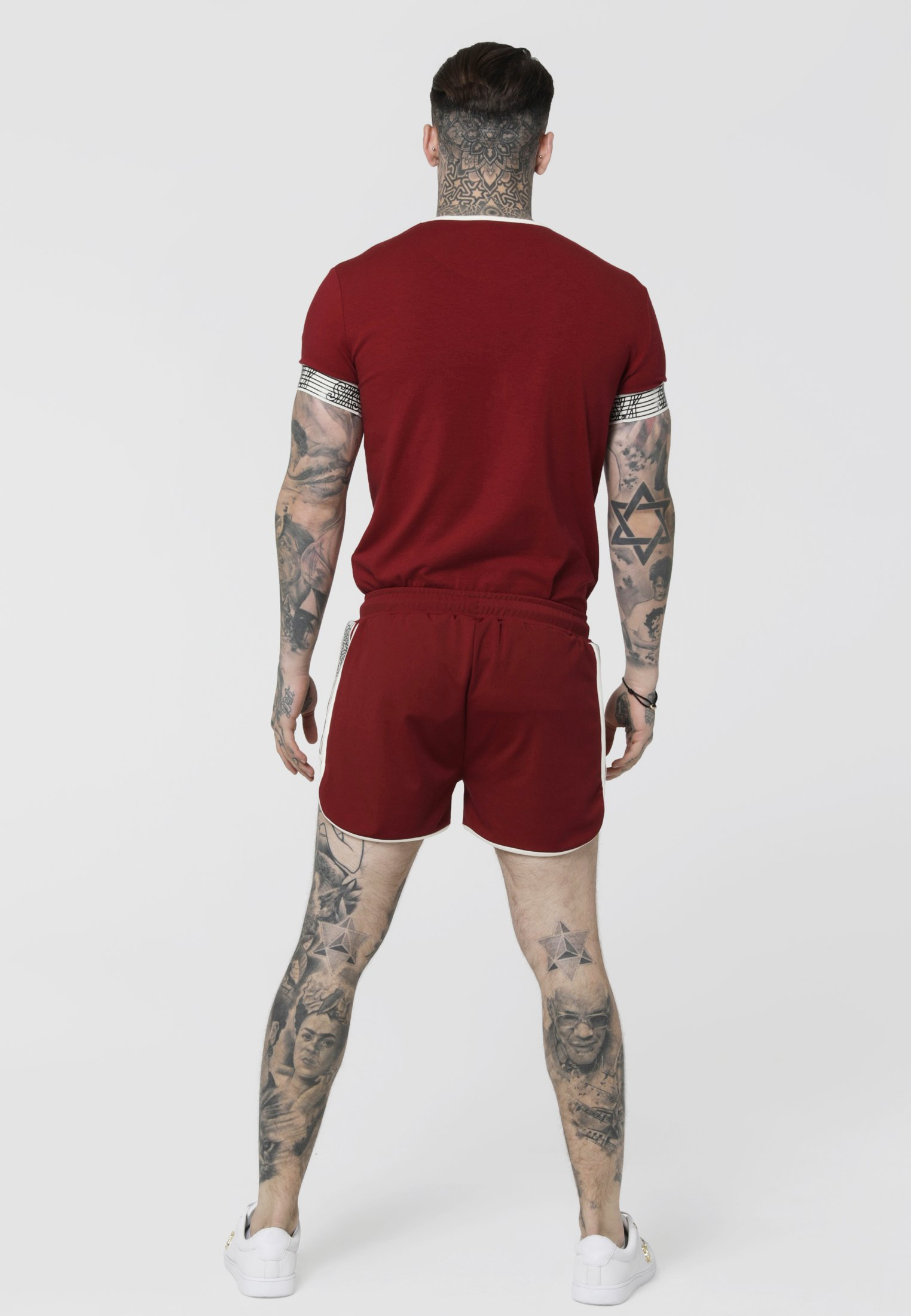 Red Cuff Gym shirt Runner TeeT Siksilk Imprimé tdQCrxsh