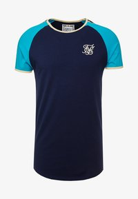 SIKSILK - CONTRAST TAPE GYM TEE - Camiseta estampada - teal/navy - 3