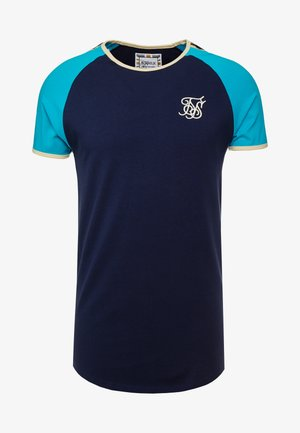 CONTRAST TAPE GYM TEE - T-shirt con stampa - teal/navy