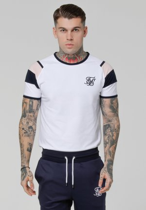 SPRINT GYM TEE - T-shirt med print - white/pink/navy