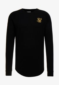 SIKSILK - FOIL FADE PANEL TEE - Camiseta de manga larga - black/gold